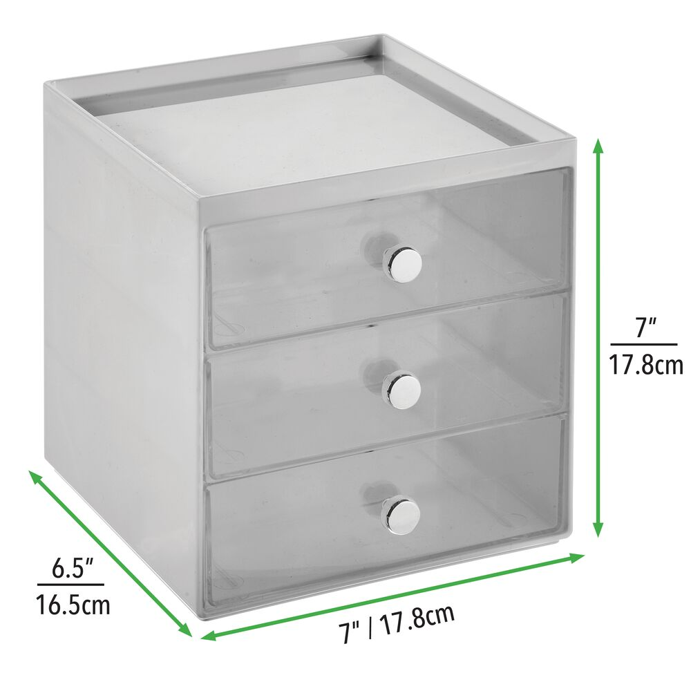 mDesign-Plastic-Makeup-Storage-Organizer-Cube-3-Drawers thumbnail 38