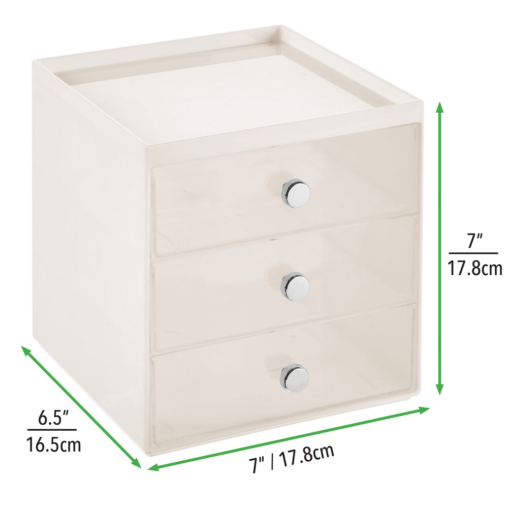 mDesign-Plastic-Makeup-Storage-Organizer-Cube-3-Drawers thumbnail 26