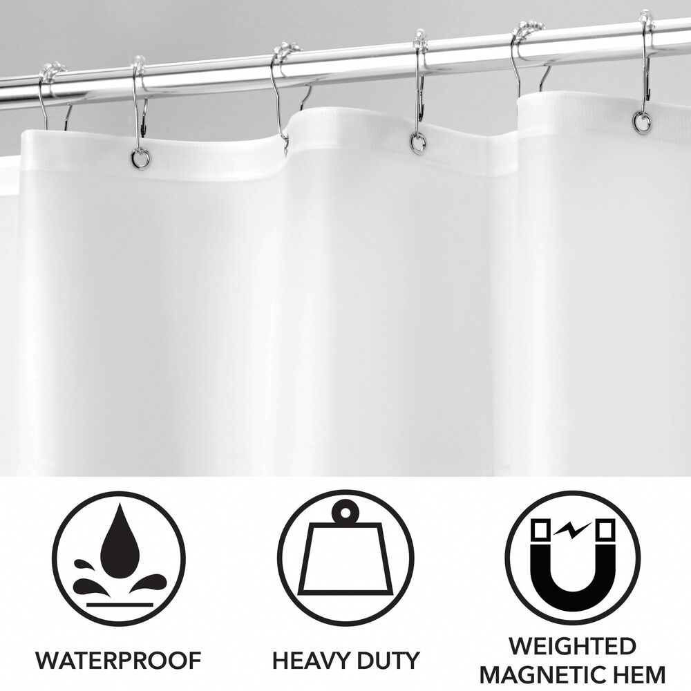 mDesign-Premium-Waterproof-Vinyl-Shower-Curtain-Liner-72-034-x-72-034 miniatuur 25