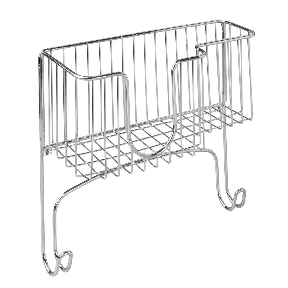 mDesign-Wall-Mount-Ironing-Board-Holder-Large-Storage-Basket thumbnail 21