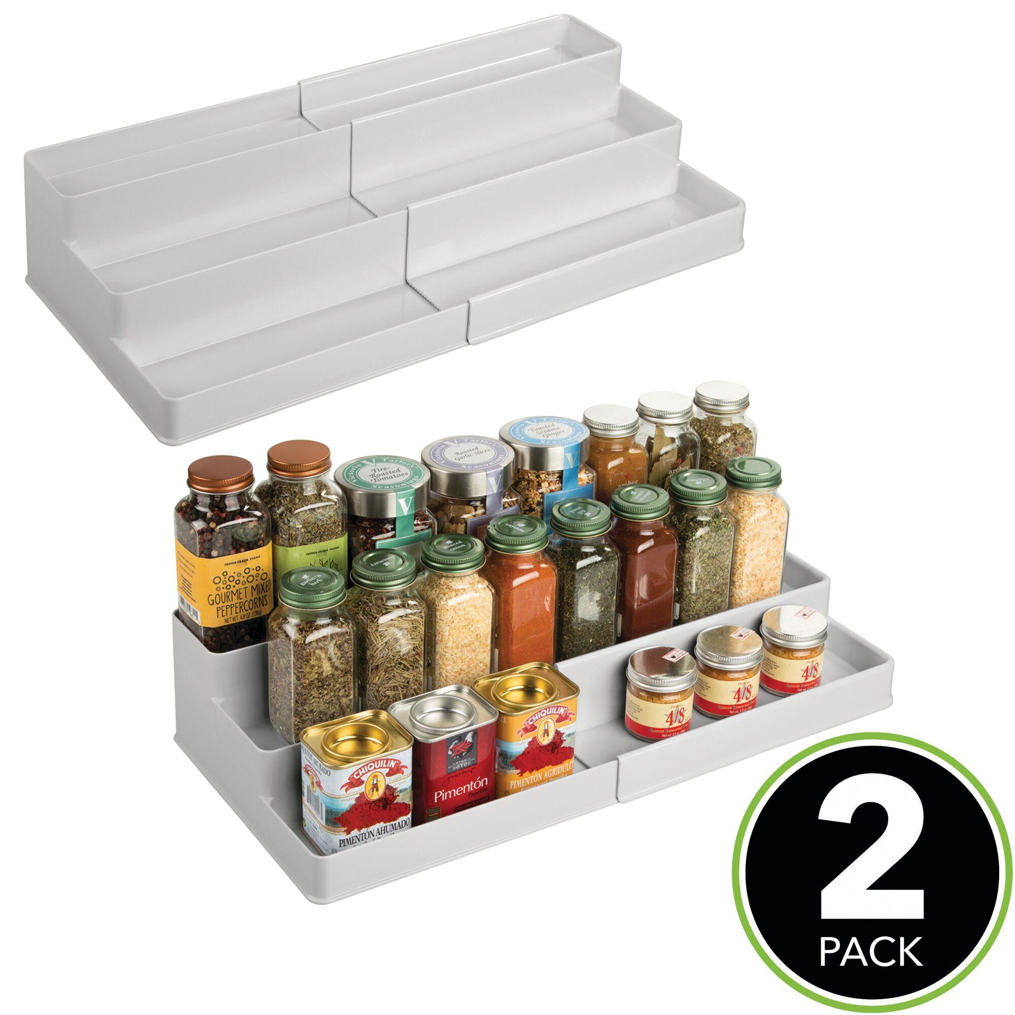 mDesign-Expandable-Kitchen-Cabinet-Pantry-Organizer-Spice-Rack thumbnail 48