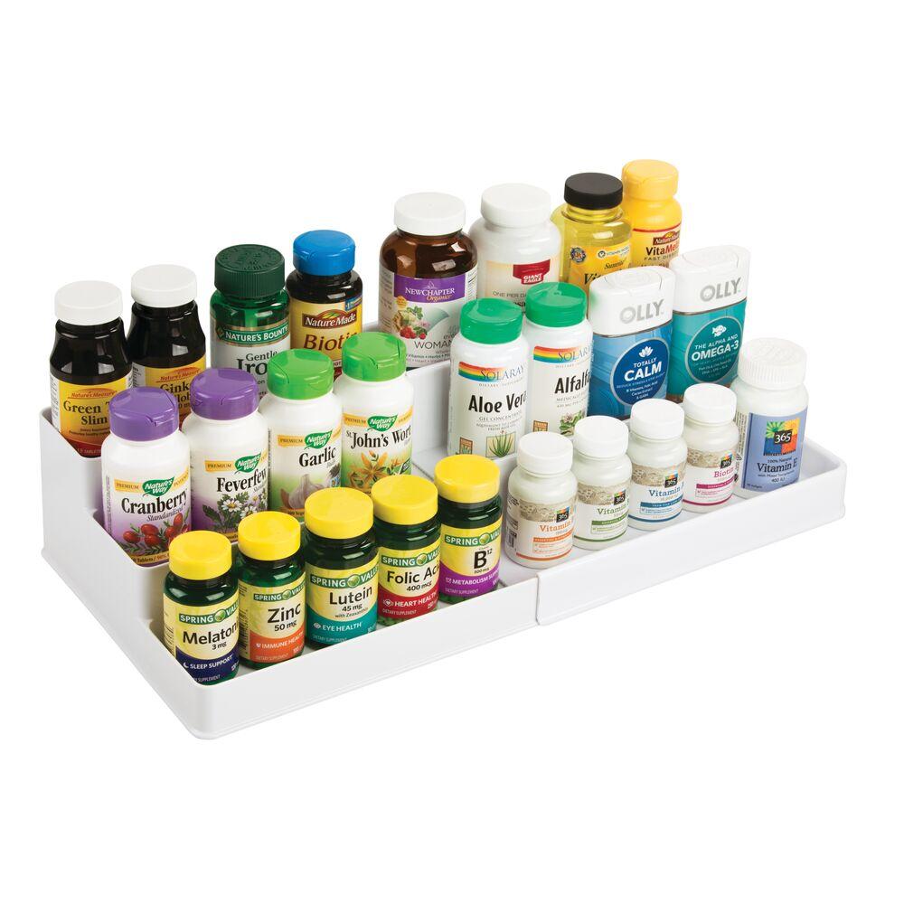 mDesign-Expandable-Kitchen-Cabinet-Pantry-Organizer-Spice-Rack thumbnail 53
