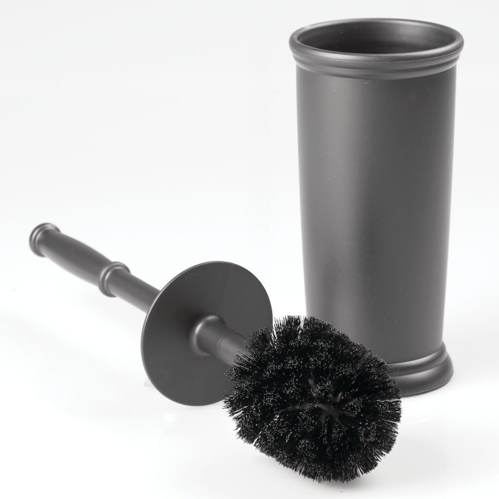 mDesign Plastic Freestanding Bathroom Toilet Bowl Brush