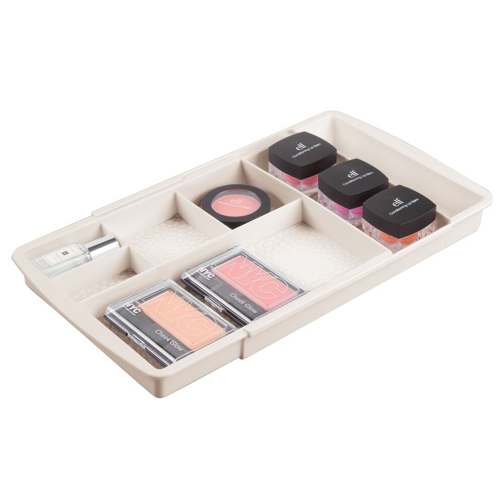 mDesign Expandable Makeup Organizer Tray for Bathroom ...