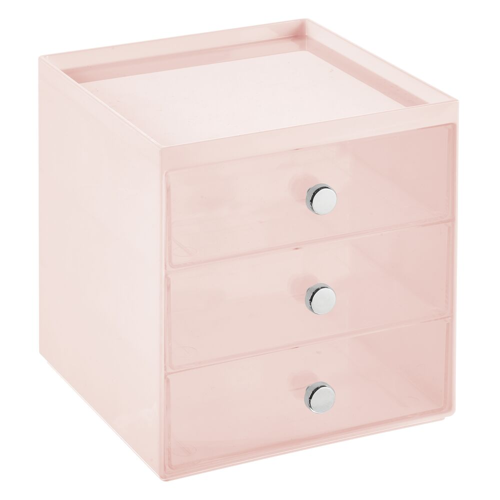 mDesign-Plastic-Makeup-Storage-Organizer-Cube-3-Drawers thumbnail 51