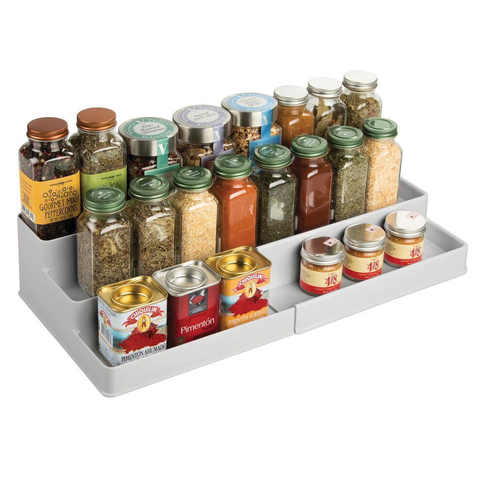 mDesign-Expandable-Kitchen-Cabinet-Pantry-Organizer-Spice-Rack thumbnail 45
