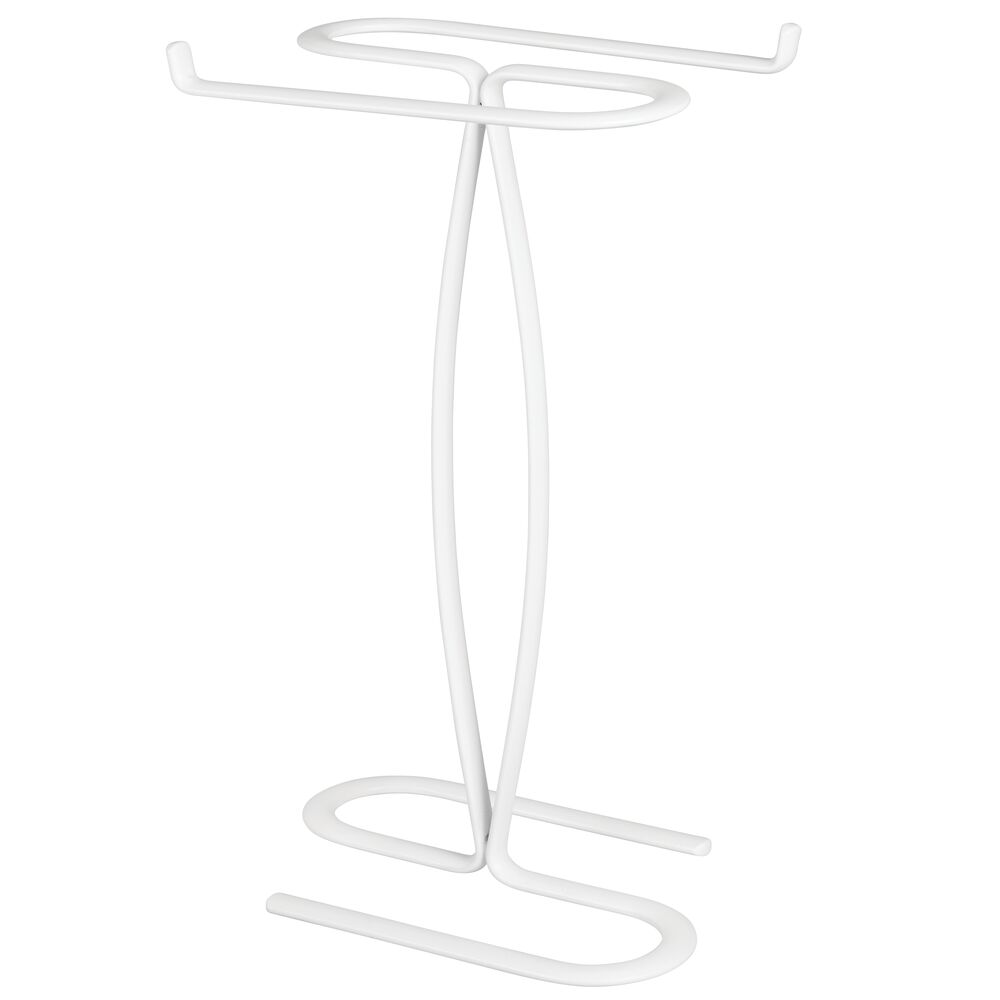 mDesign Metal Hand Towel Holder Stand for Bathroom Vanity ...