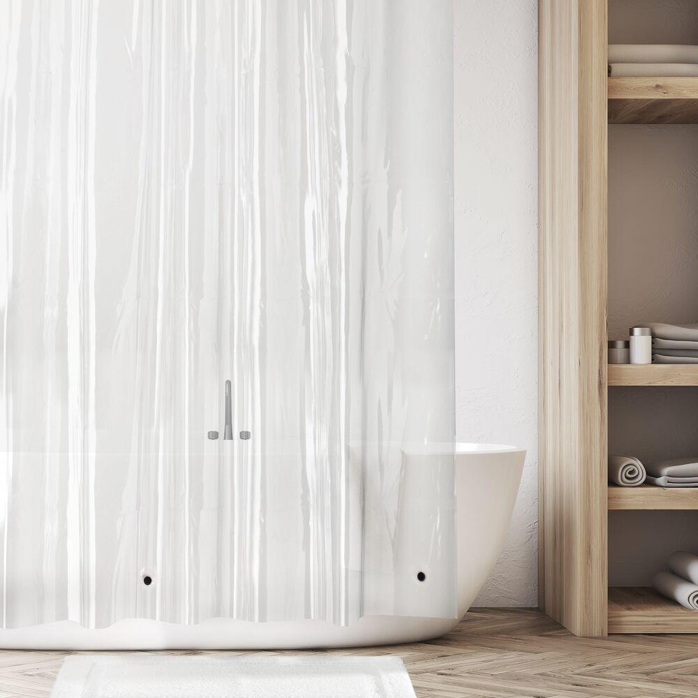 mDesign-Premium-Waterproof-Vinyl-Shower-Curtain-Liner-72-034-x-72-034 miniatuur 13