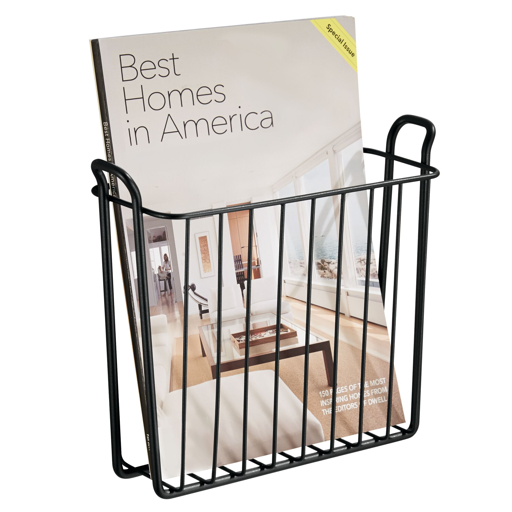 mDesign-Metal-Wall-Mount-Magazine-Book-Holder-Compact-Rack thumbnail 29