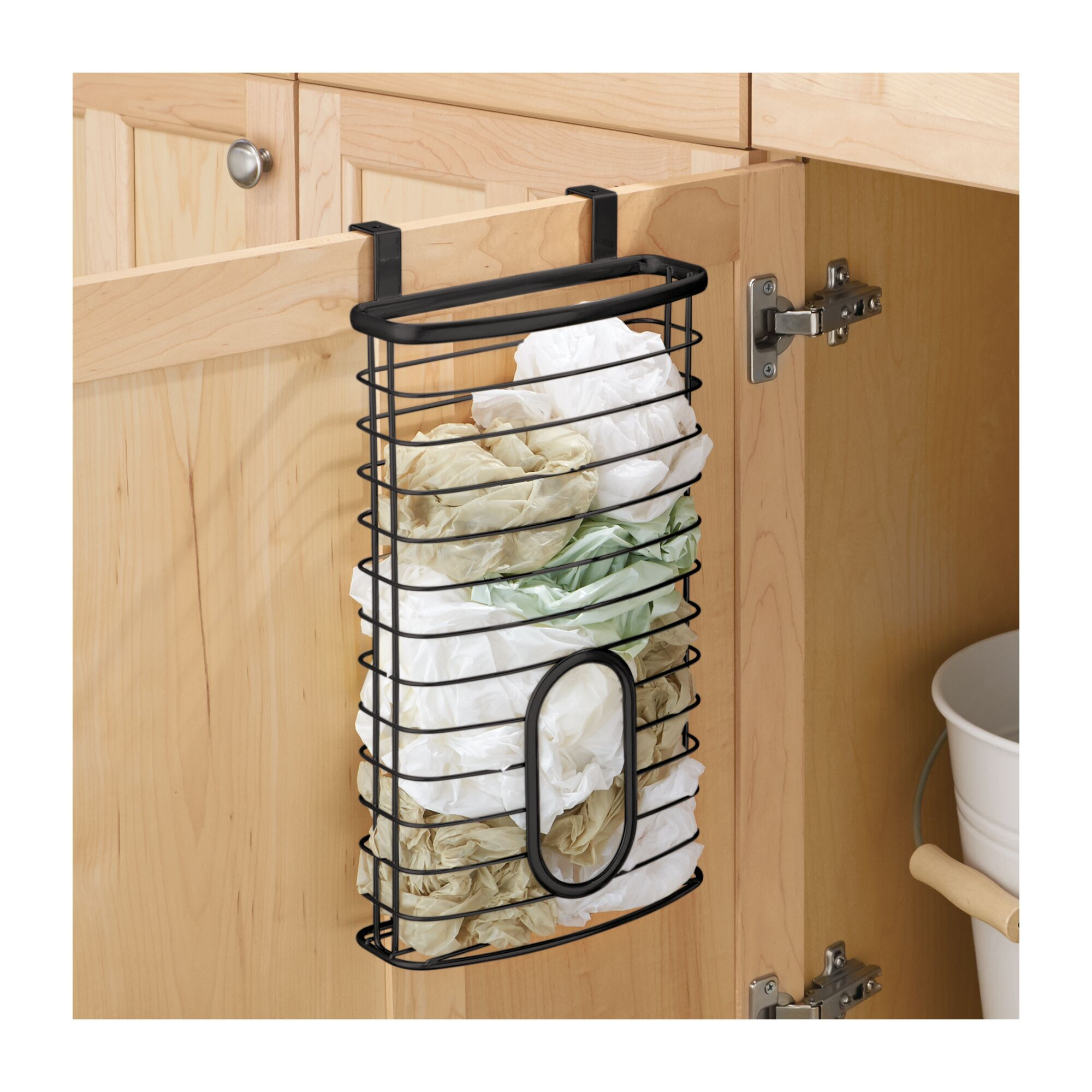 Baskets Above Kitchen Cabinets: MDesign Metal Over Cabinet Kitchen Storage Basket, Holds