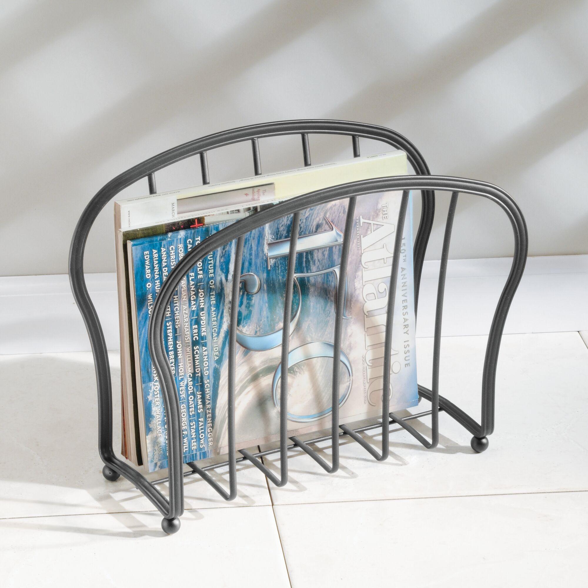 mDesign-Metal-Standing-Rack-Magazine-Holder-for-Bathroom thumbnail 44