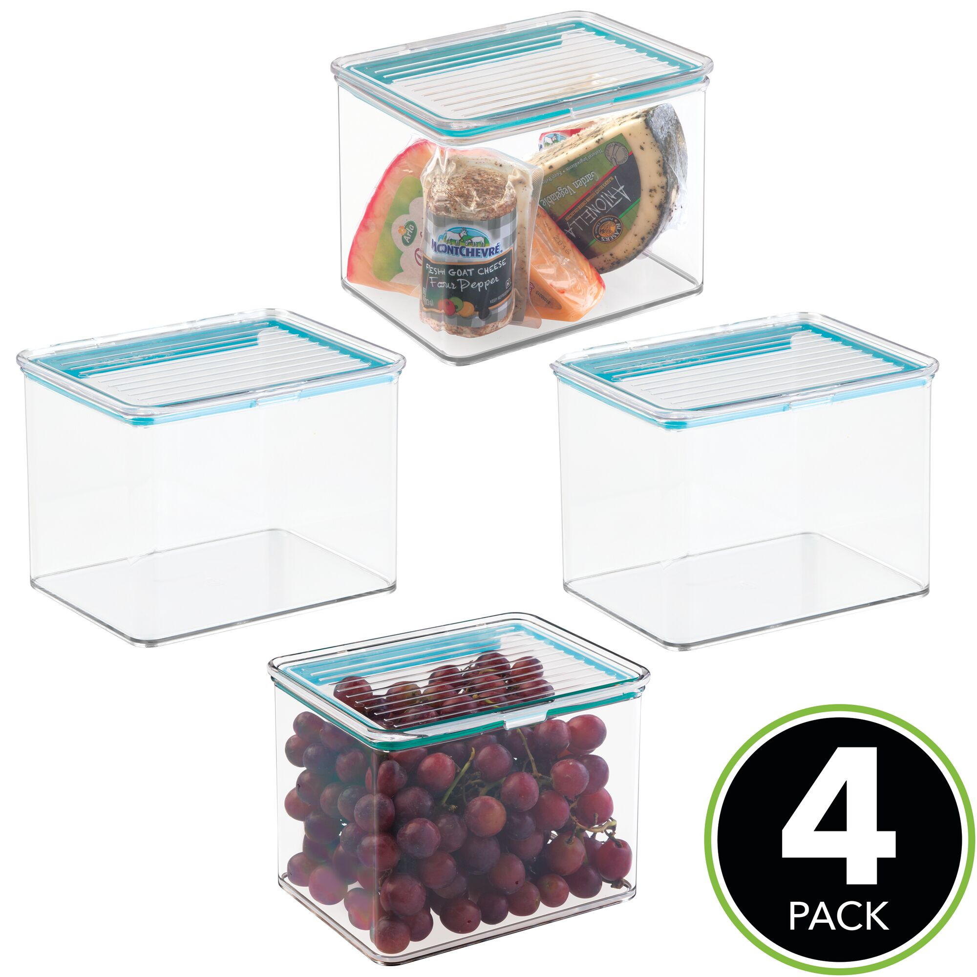 MDesign Airtight Stackable Food Storage Container 2 Quarts Thumbnail