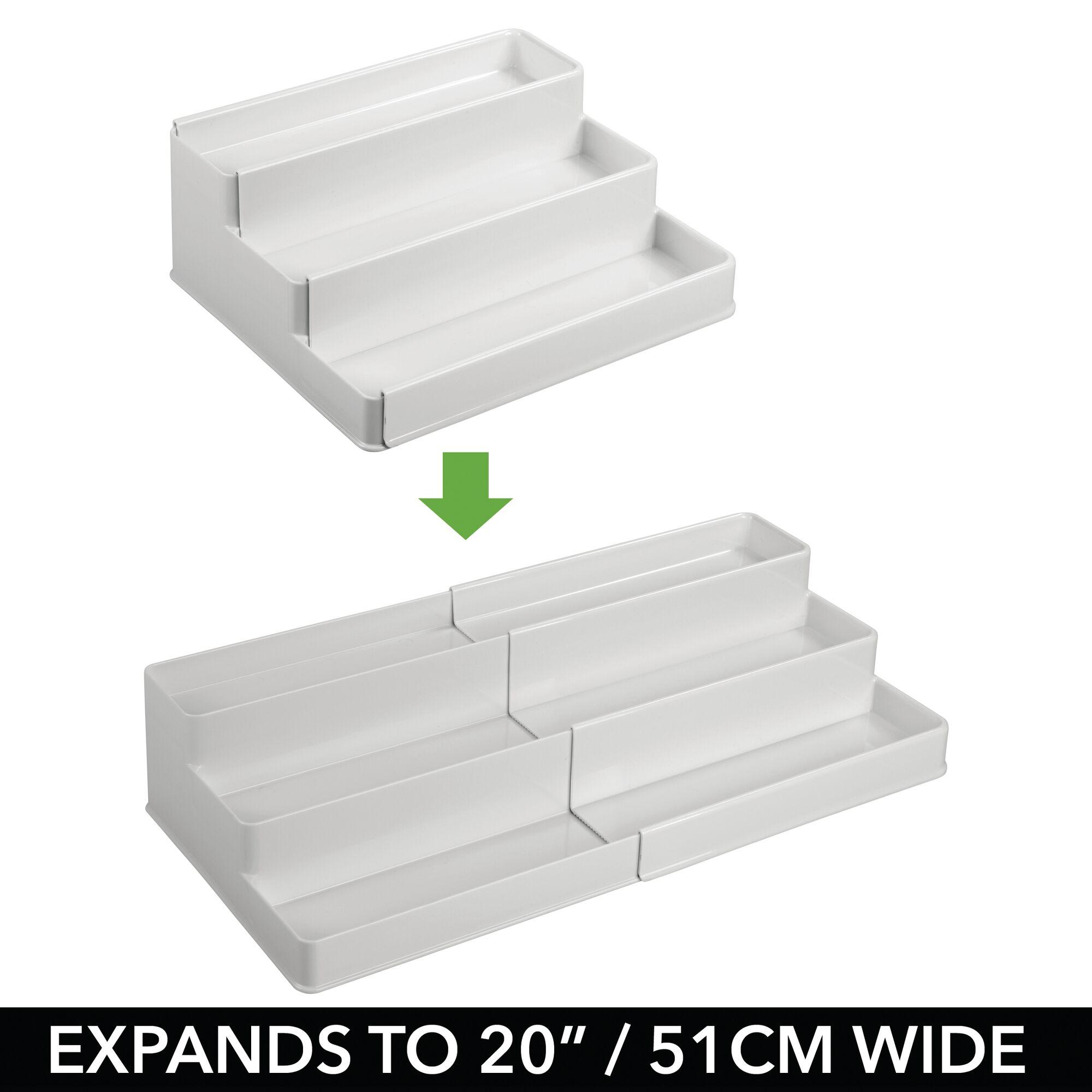 mDesign-Expandable-Kitchen-Cabinet-Pantry-Organizer-Spice-Rack thumbnail 49
