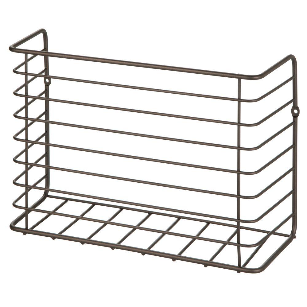 mDesign-Metal-Wall-Mount-Magazine-Holder-Storage-Organizer-Rack thumbnail 14