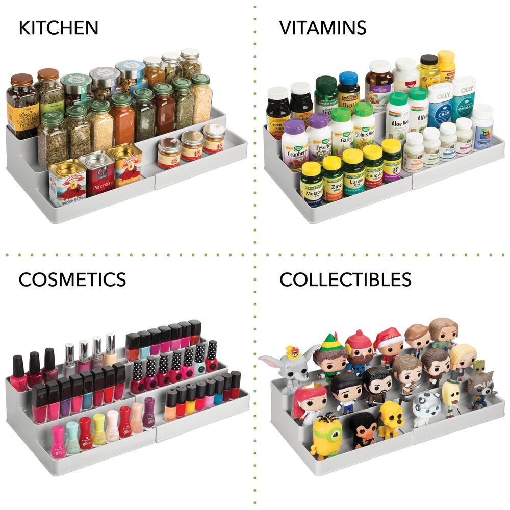 mDesign-Expandable-Kitchen-Cabinet-Pantry-Organizer-Spice-Rack thumbnail 43