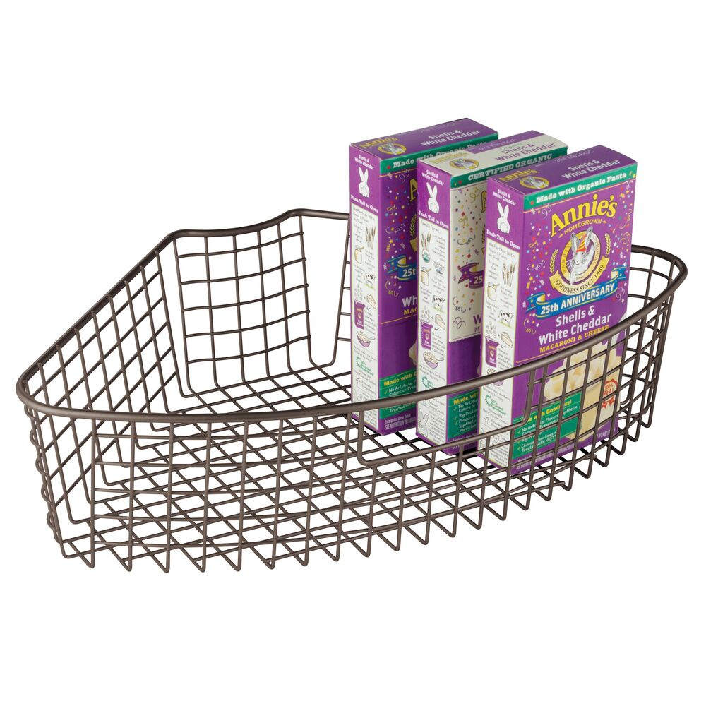 MDesign MDesign MDesign Kitchen Cabinet Lazy Susan Storage Basket, 1 4 Wedge f127ab