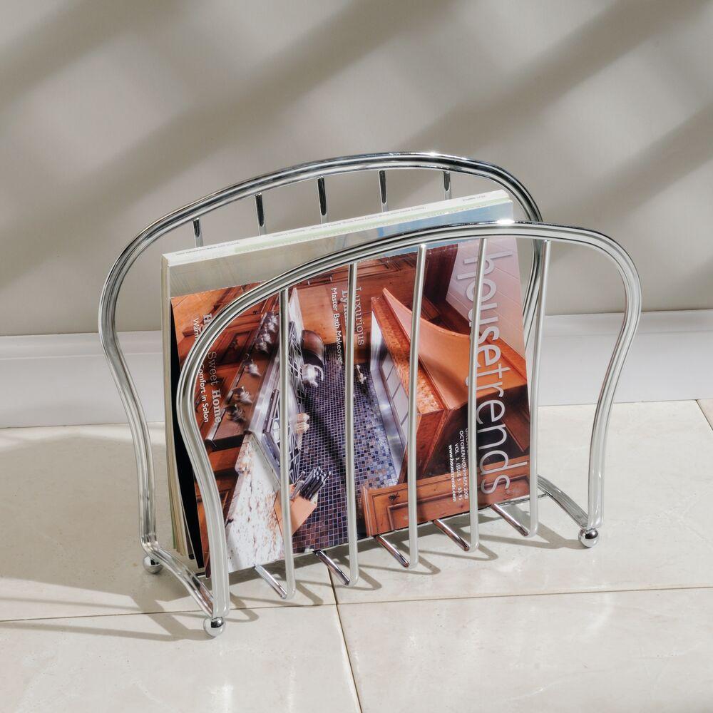 mDesign-Metal-Standing-Rack-Magazine-Holder-for-Bathroom thumbnail 27