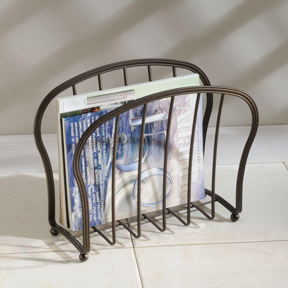 mDesign-Metal-Standing-Rack-Magazine-Holder-for-Bathroom thumbnail 18