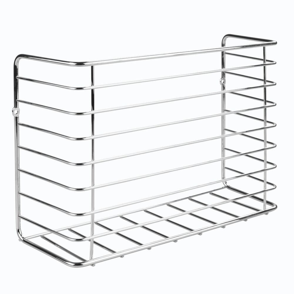 mDesign-Metal-Wall-Mount-Magazine-Holder-Storage-Organizer-Rack thumbnail 25