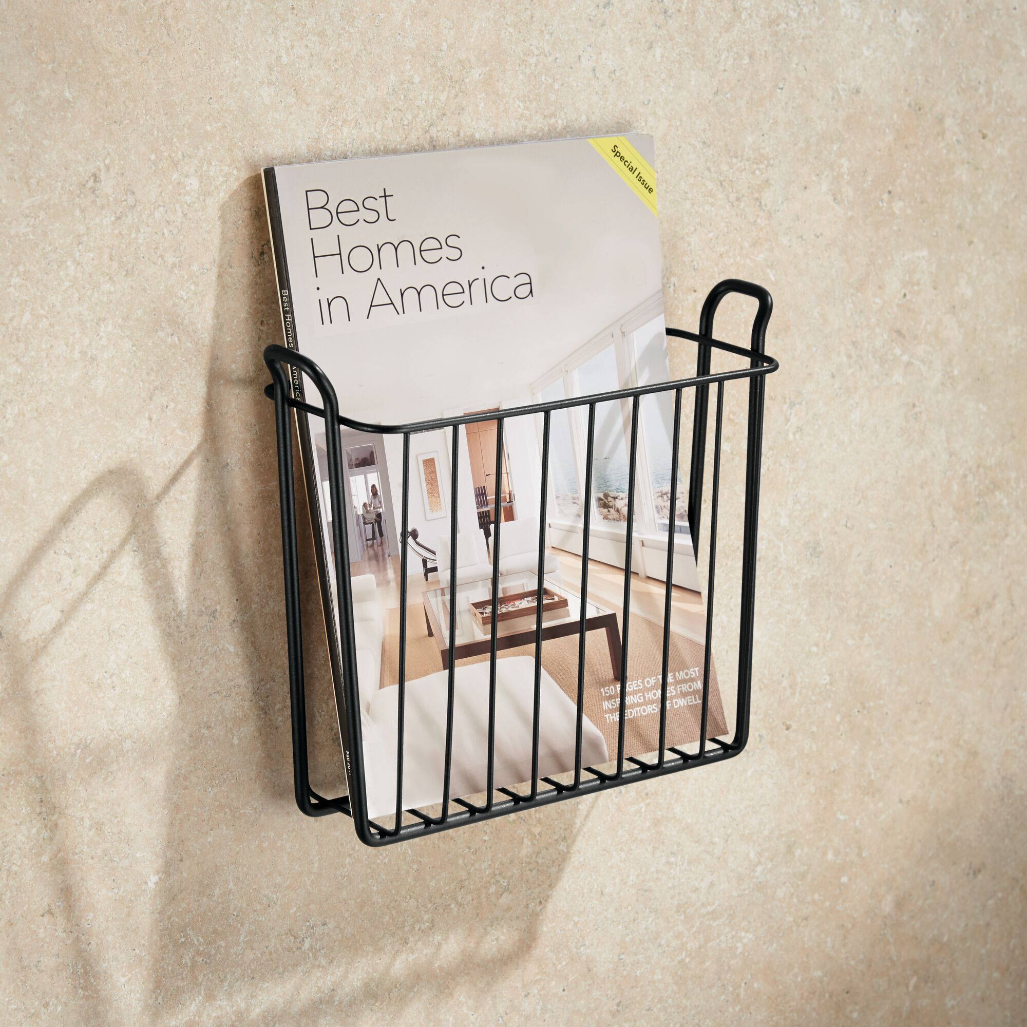mDesign-Metal-Wall-Mount-Magazine-Book-Holder-Compact-Rack thumbnail 30