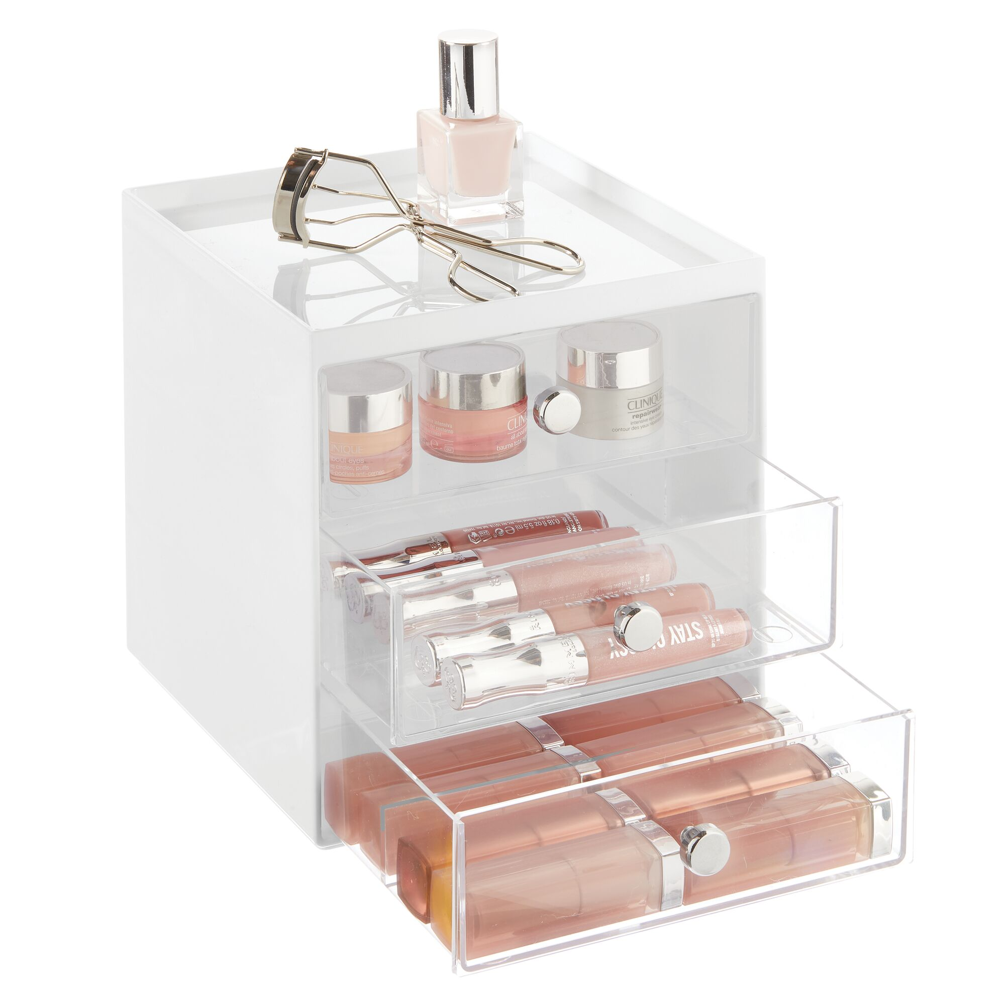 mDesign-Plastic-Makeup-Storage-Organizer-Cube-3-Drawers thumbnail 79