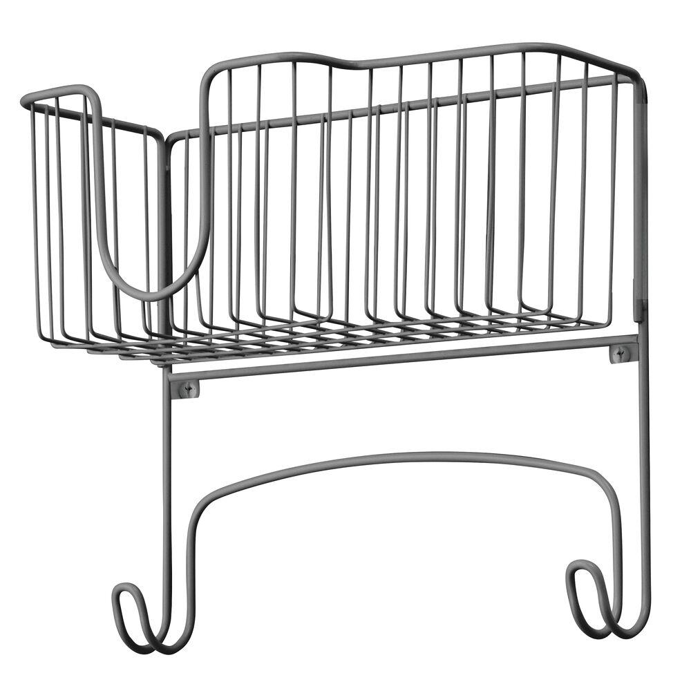 mDesign-Wall-Mount-Ironing-Board-Holder-Large-Storage-Basket thumbnail 29