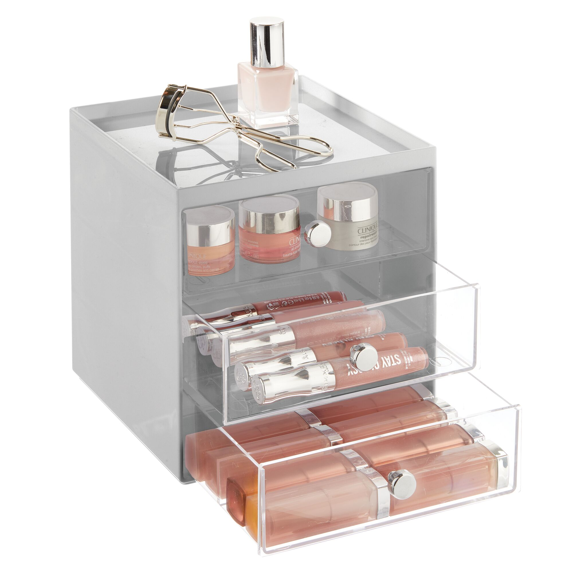 mDesign-Plastic-Makeup-Storage-Organizer-Cube-3-Drawers thumbnail 43