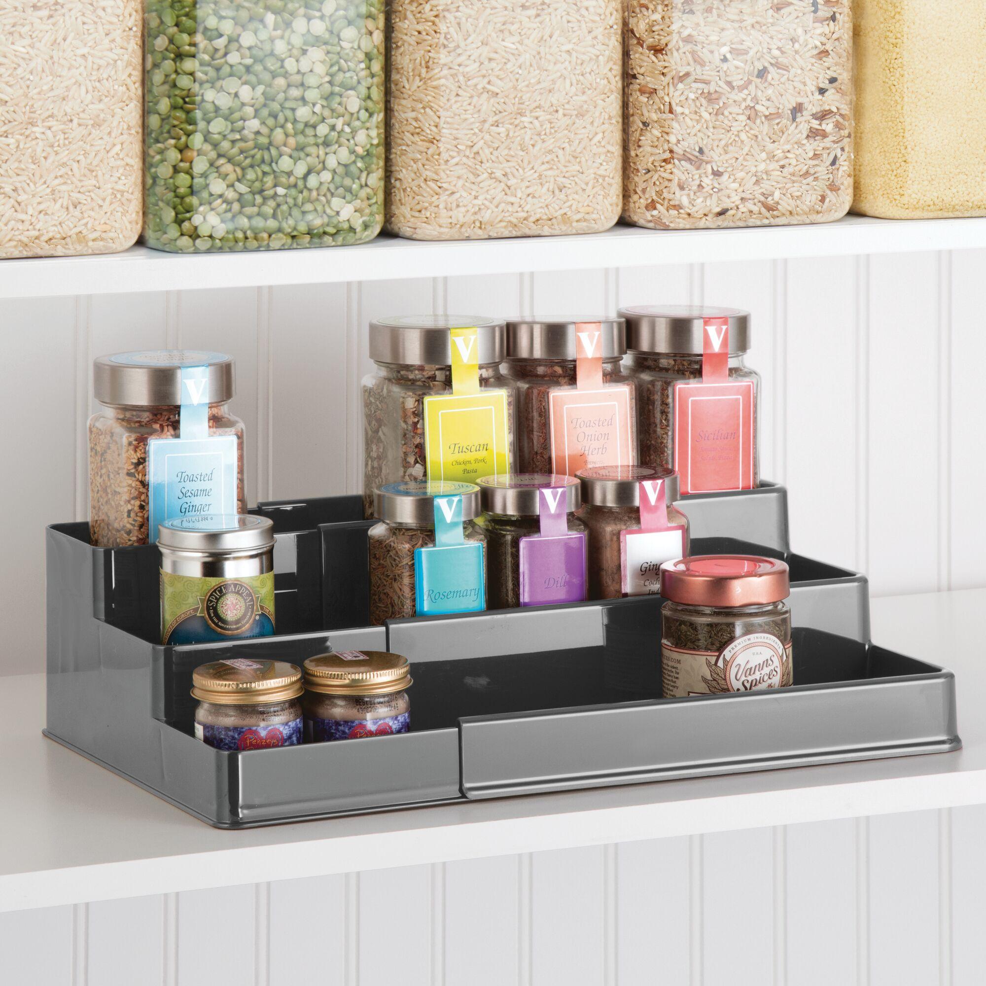 mDesign-Expandable-Kitchen-Cabinet-Pantry-Organizer-Spice-Rack thumbnail 31