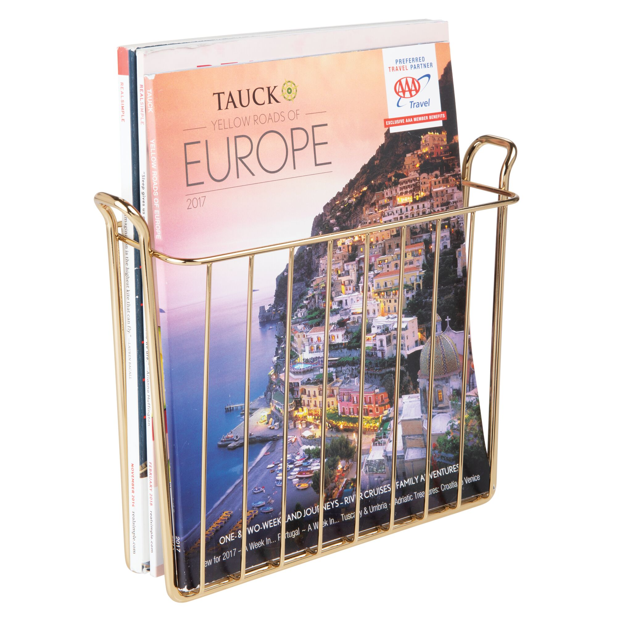 mDesign-Metal-Wall-Mount-Magazine-Book-Holder-Compact-Rack thumbnail 61