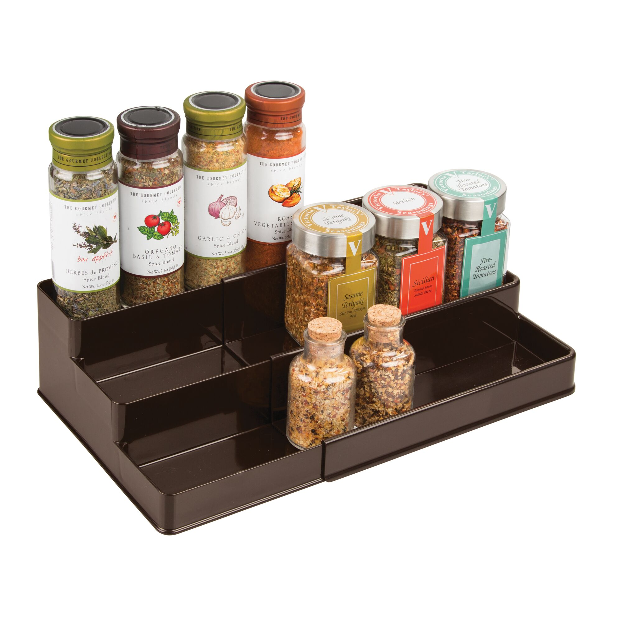 mDesign-Expandable-Kitchen-Cabinet-Pantry-Organizer-Spice-Rack thumbnail 18