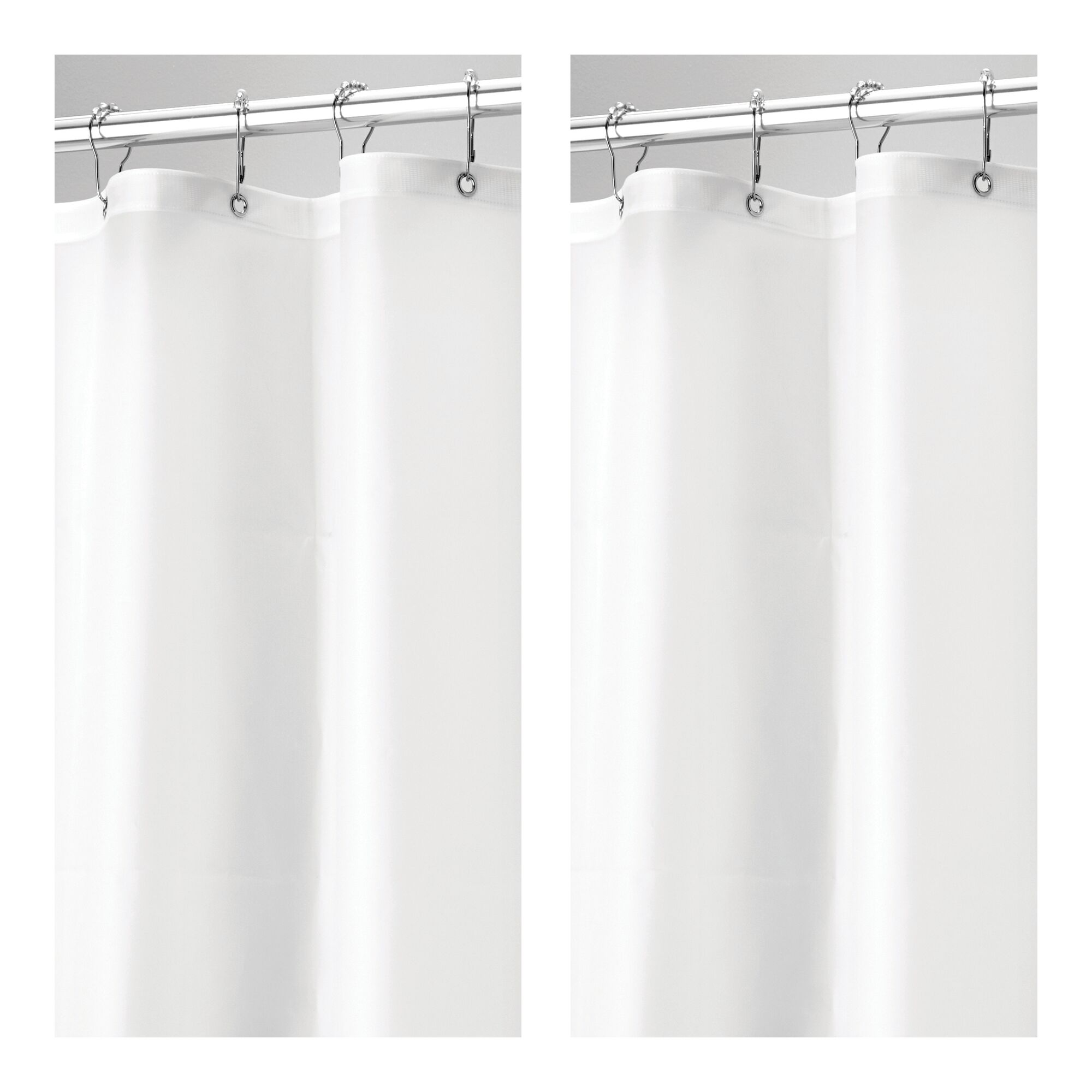 mDesign-Premium-Waterproof-Vinyl-Shower-Curtain-Liner-72-034-x-72-034 miniatuur 30