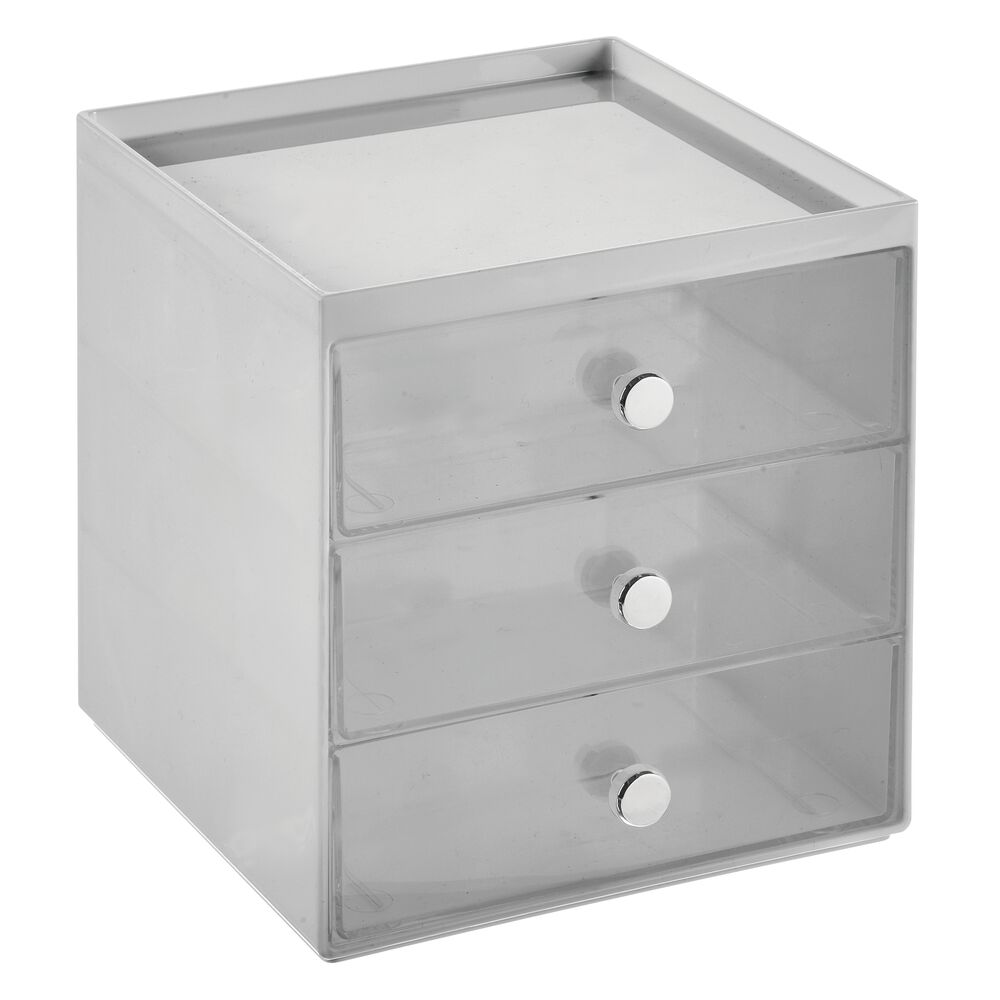mDesign-Plastic-Makeup-Storage-Organizer-Cube-3-Drawers thumbnail 40