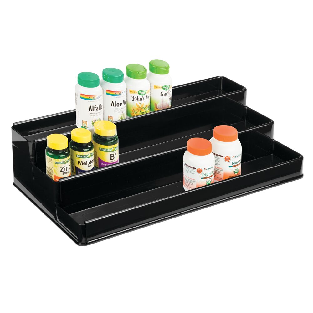 Details about mDesign Large Expandable Vitamin Rack, Bathroom Storage  Organizer