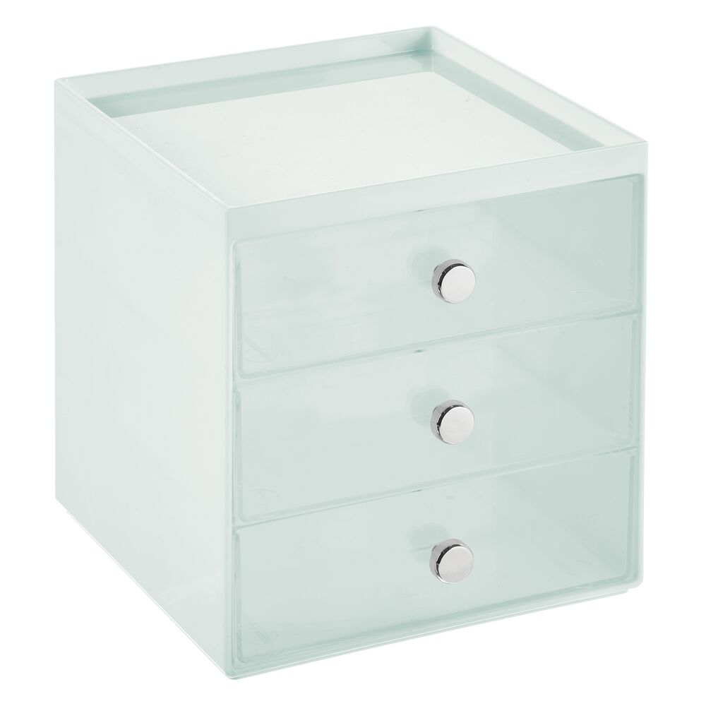 mDesign-Plastic-Makeup-Storage-Organizer-Cube-3-Drawers thumbnail 64