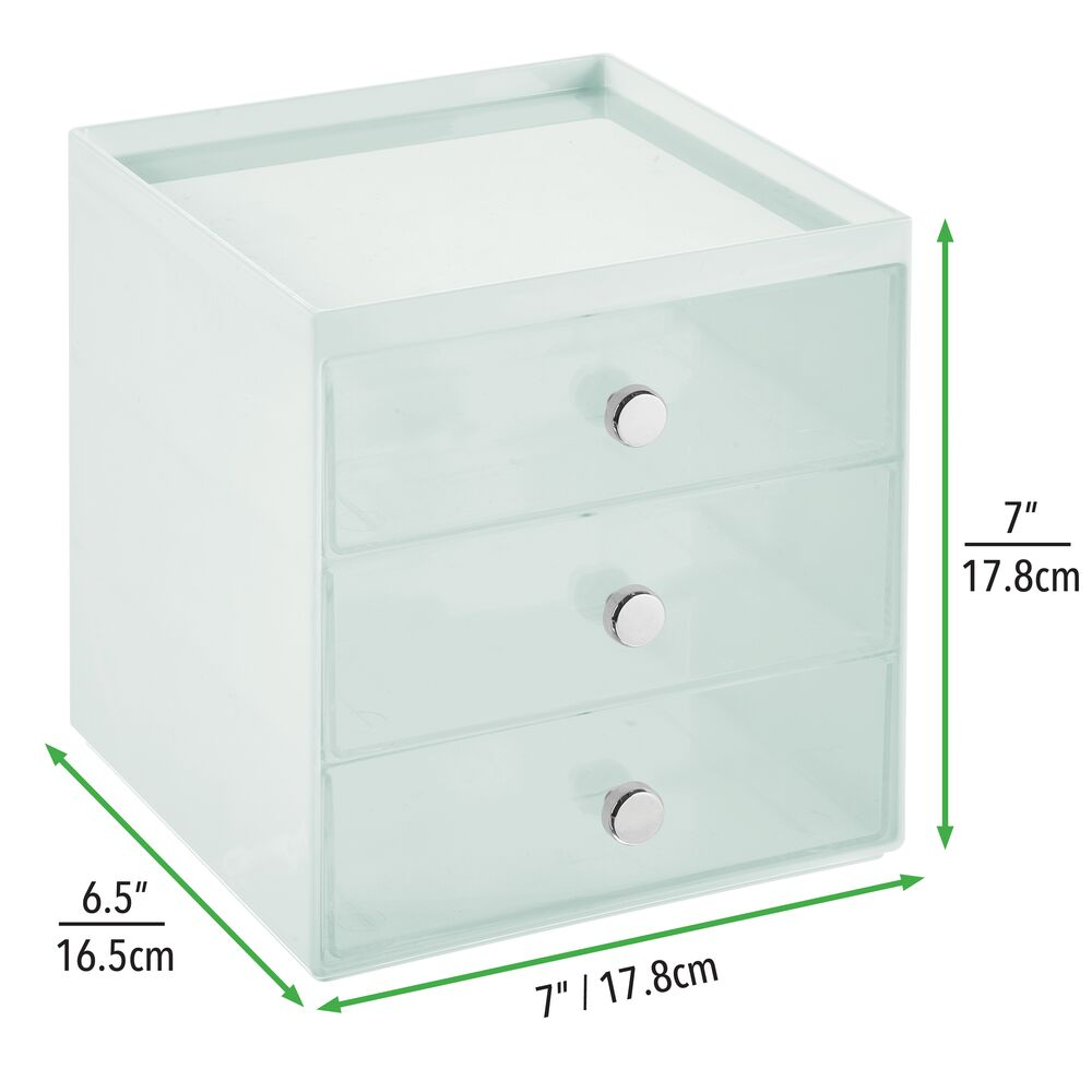 mDesign-Plastic-Makeup-Storage-Organizer-Cube-3-Drawers thumbnail 62