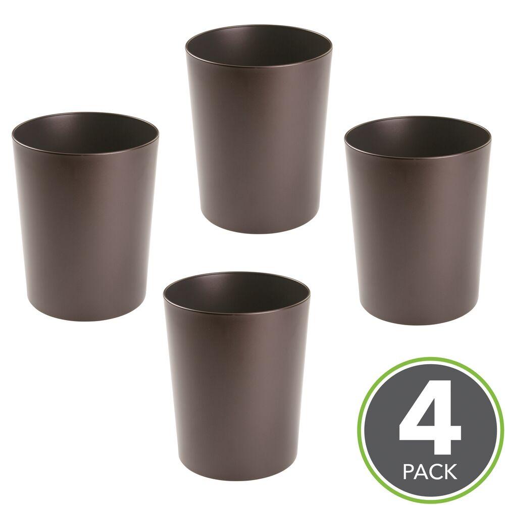 MDesign Round Metal Small Trash Can Wastebasket, Garbage Bin Bin Bin 28b9d5