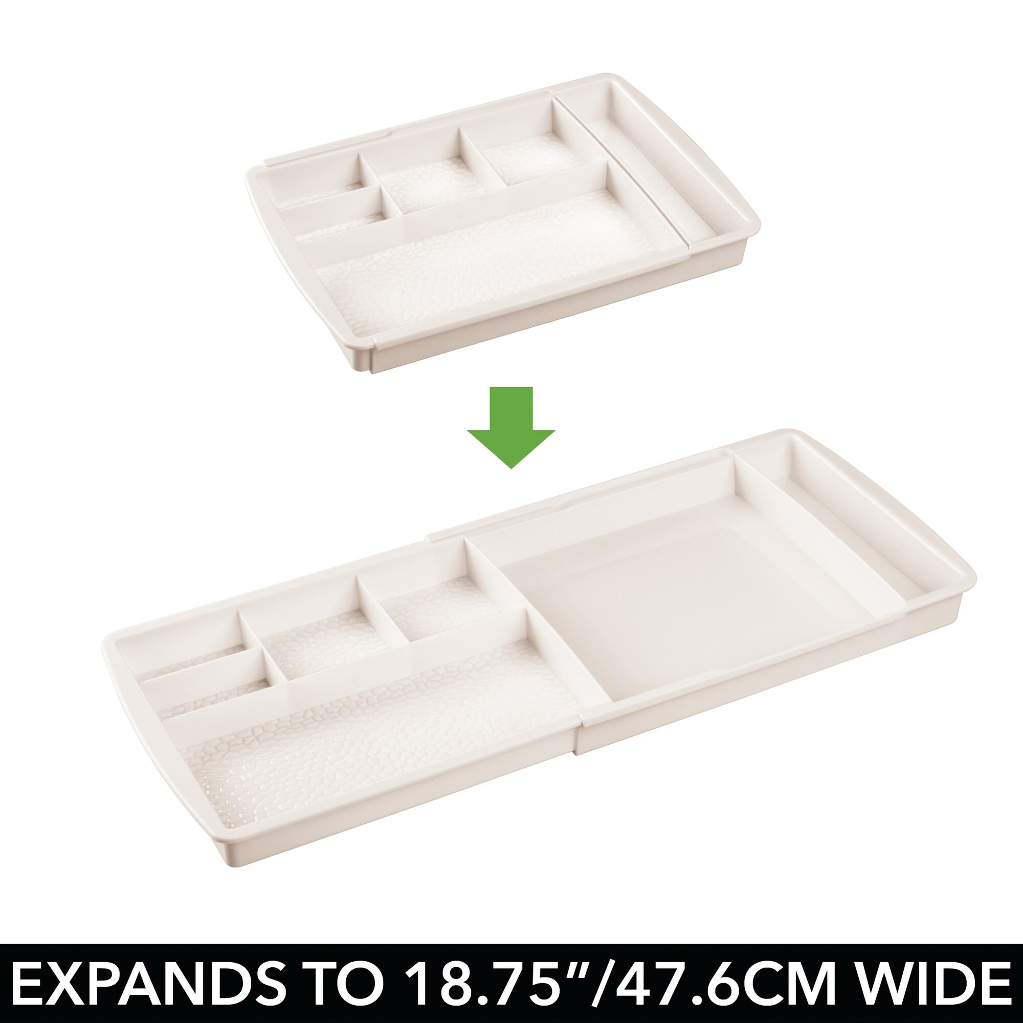 mDesign-Expandable-Makeup-Organizer-Tray-for-Bathroom-Drawers thumbnail 24