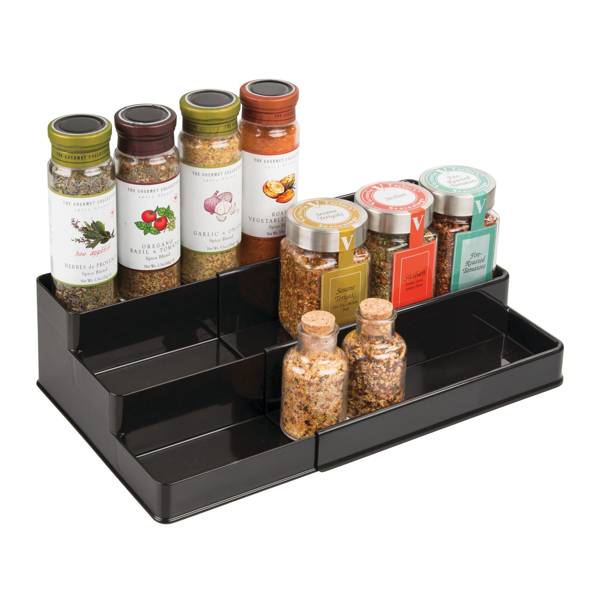 mDesign-Expandable-Kitchen-Cabinet-Pantry-Organizer-Spice-Rack thumbnail 7