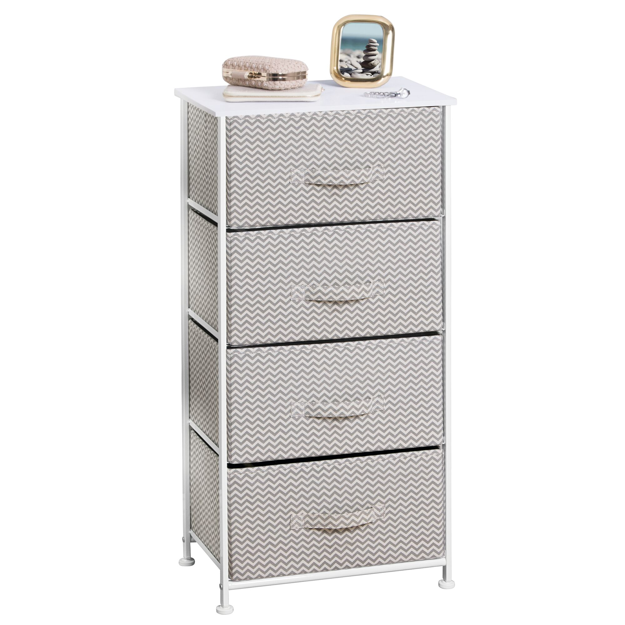 Vertical 4 Drawer Dresser Unit