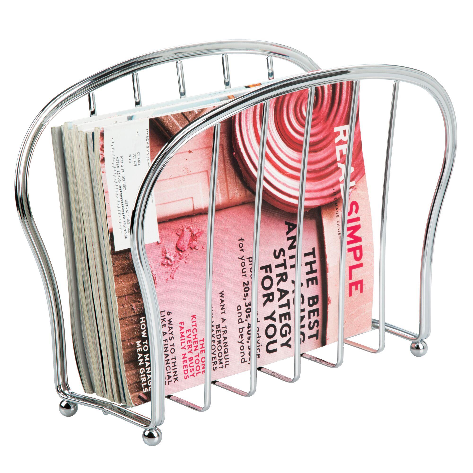 mDesign-Metal-Standing-Rack-Magazine-Holder-for-Bathroom thumbnail 33