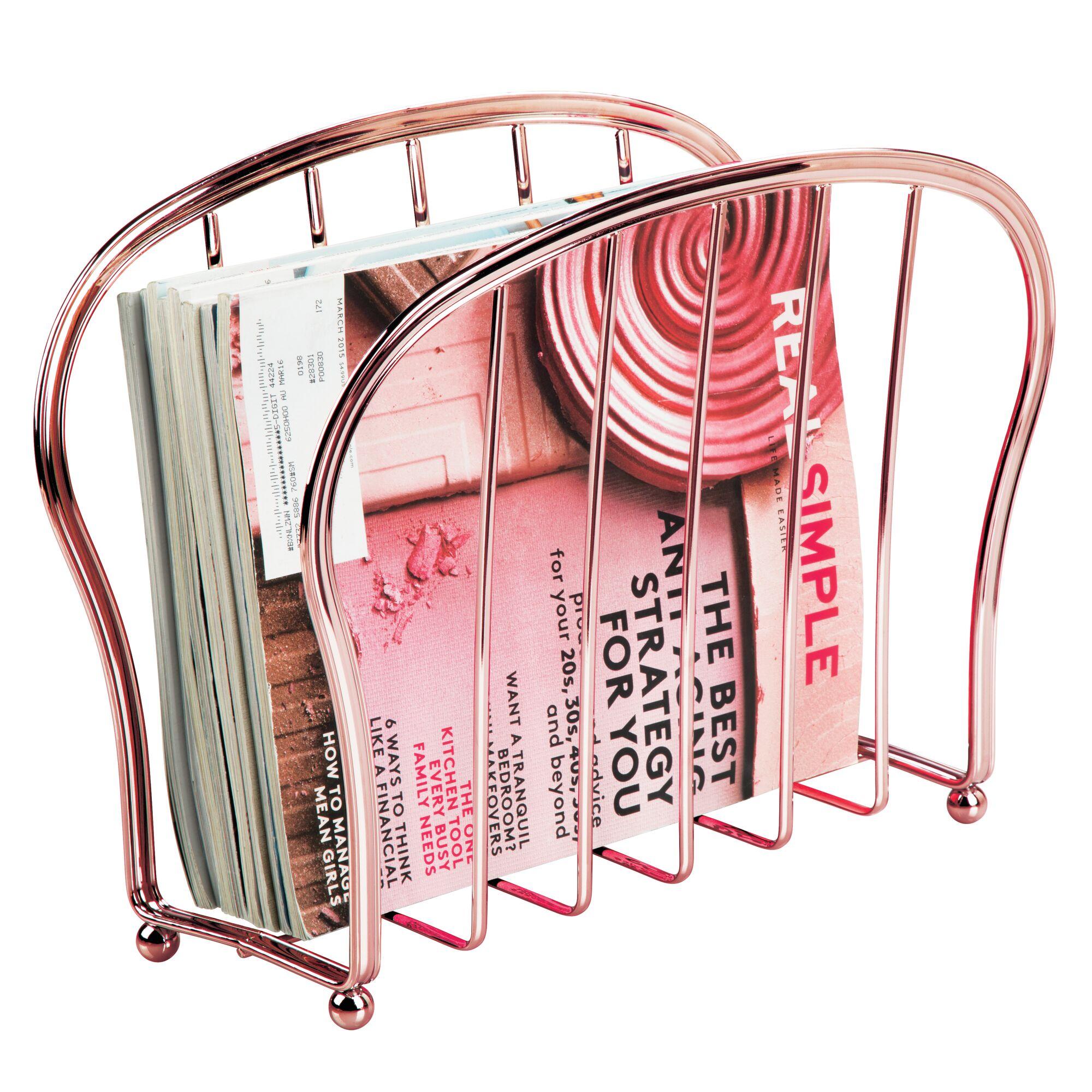 mDesign-Metal-Standing-Rack-Magazine-Holder-for-Bathroom thumbnail 55