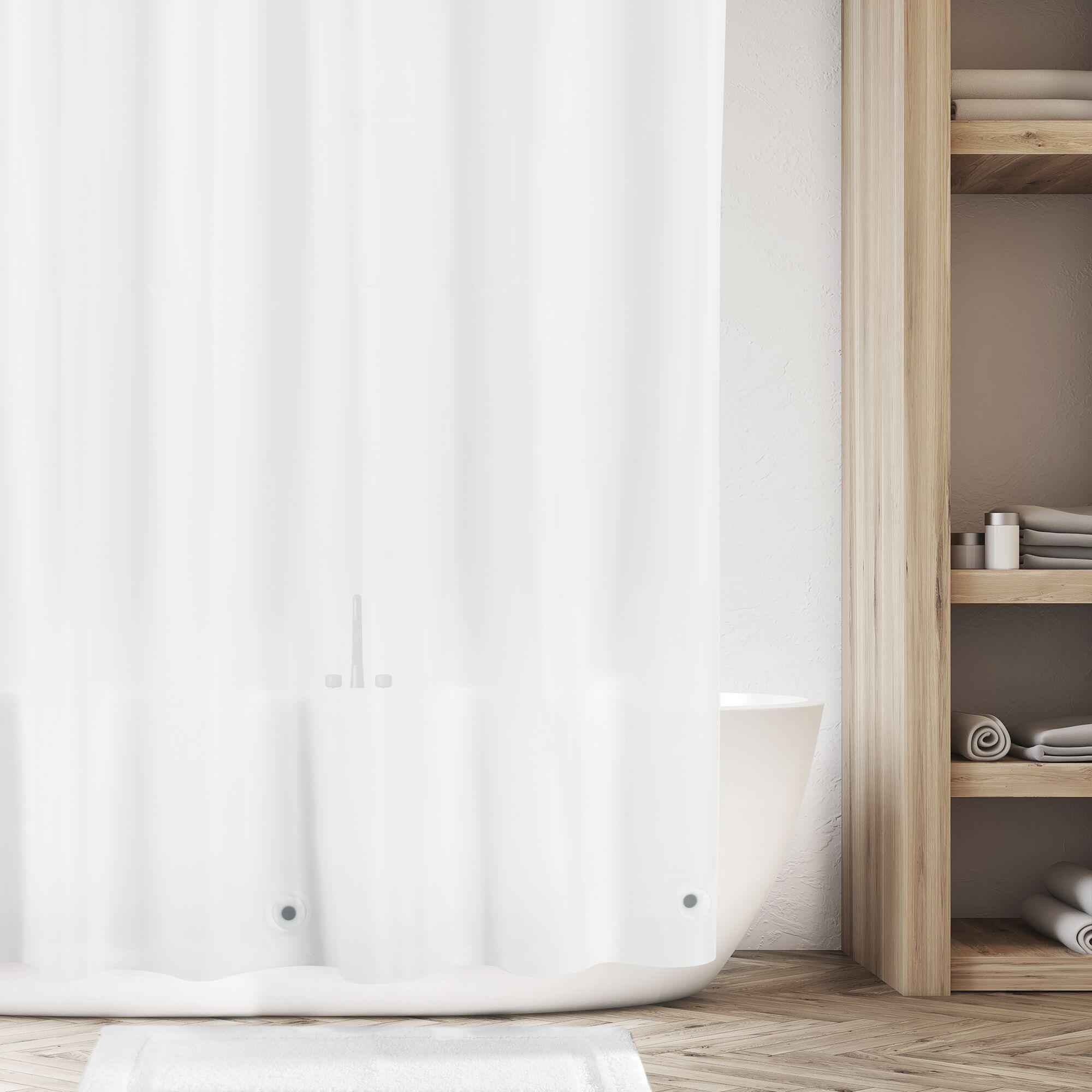 mDesign-Premium-Waterproof-Vinyl-Shower-Curtain-Liner-72-034-x-72-034 miniatuur 32