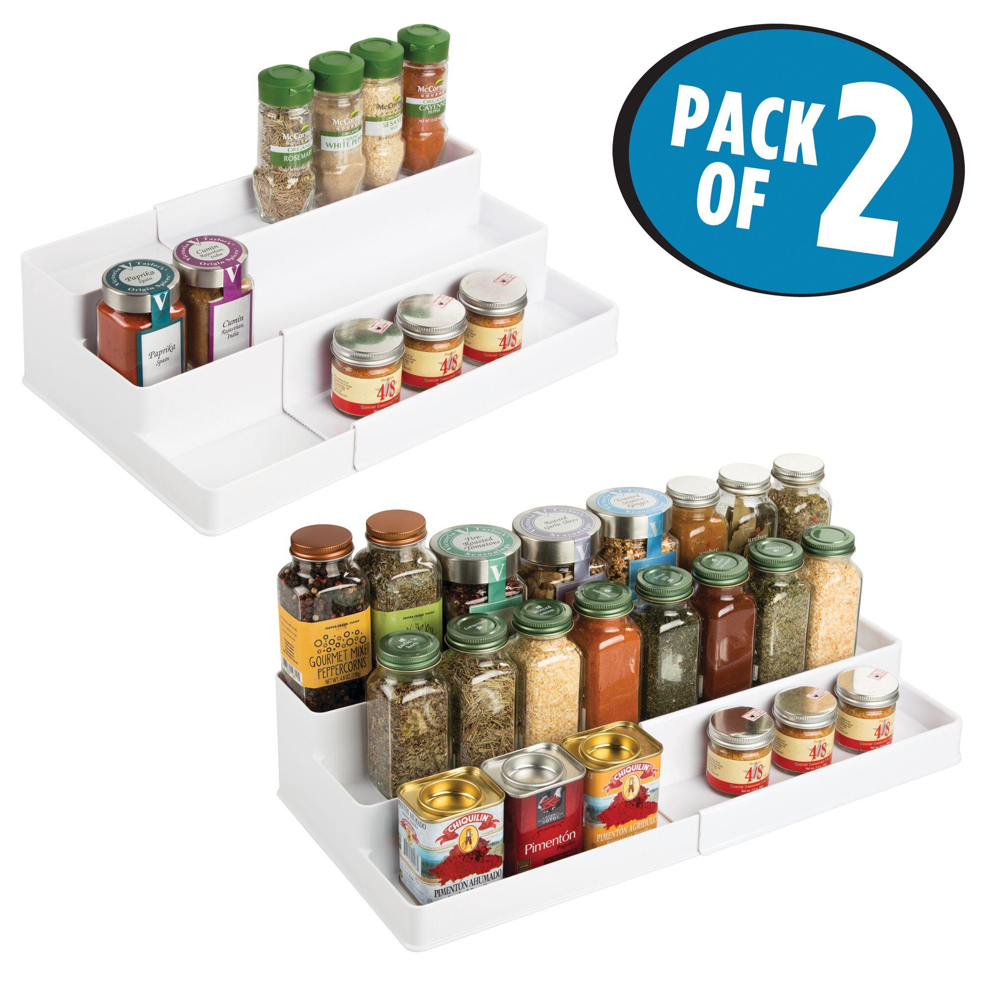 mDesign-Expandable-Kitchen-Cabinet-Pantry-Organizer-Spice-Rack thumbnail 58