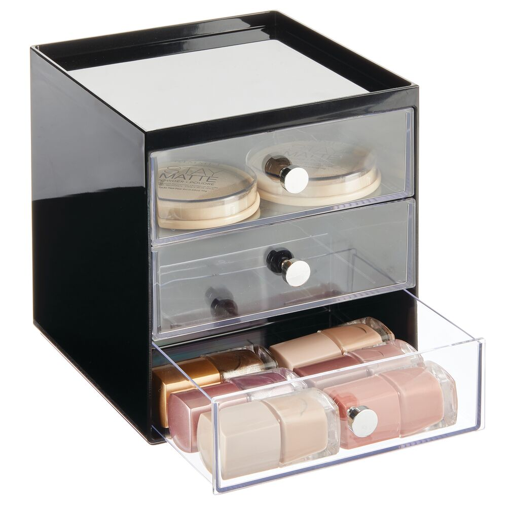 mDesign-Plastic-Makeup-Storage-Organizer-Cube-3-Drawers thumbnail 15