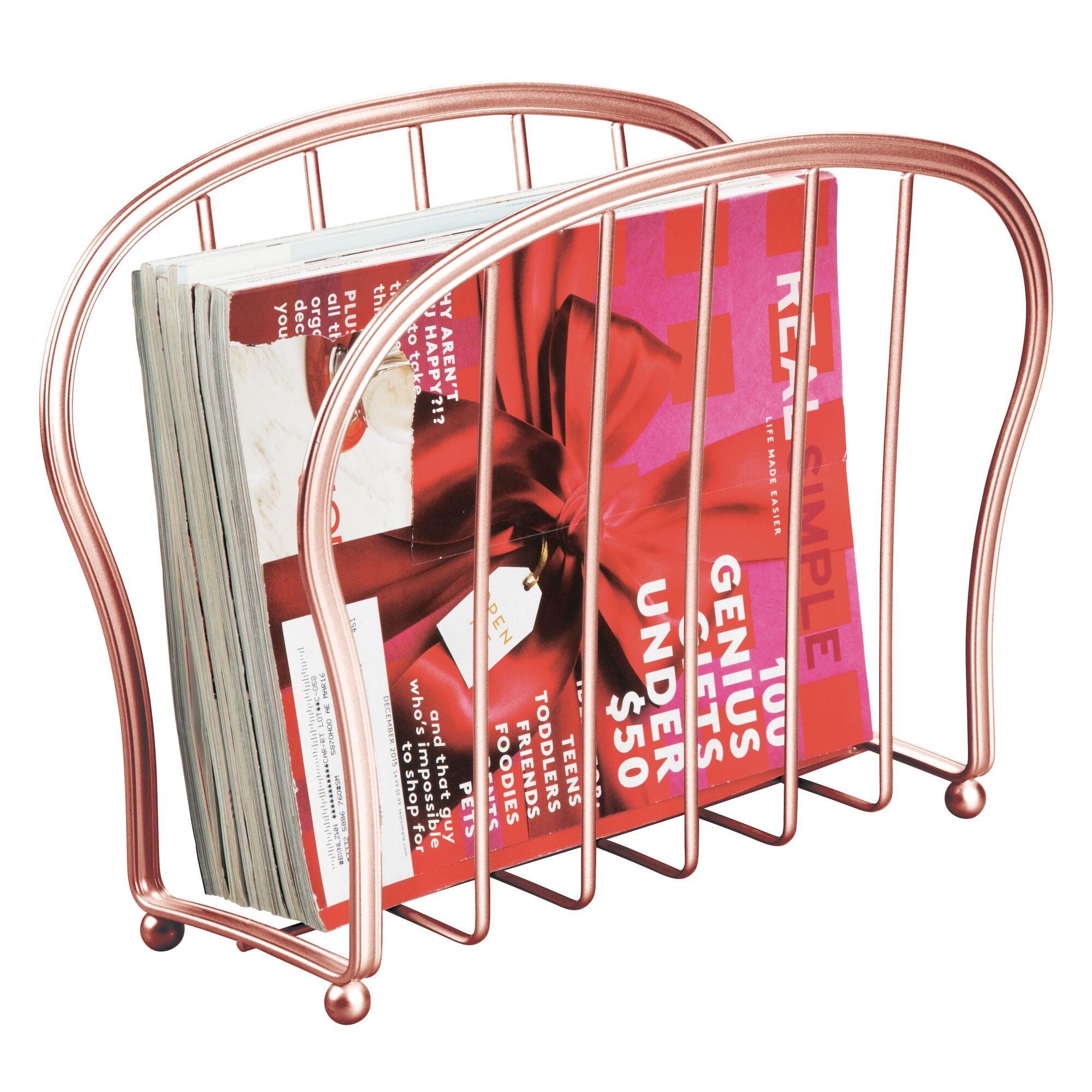 mDesign-Metal-Standing-Rack-Magazine-Holder-for-Bathroom thumbnail 53