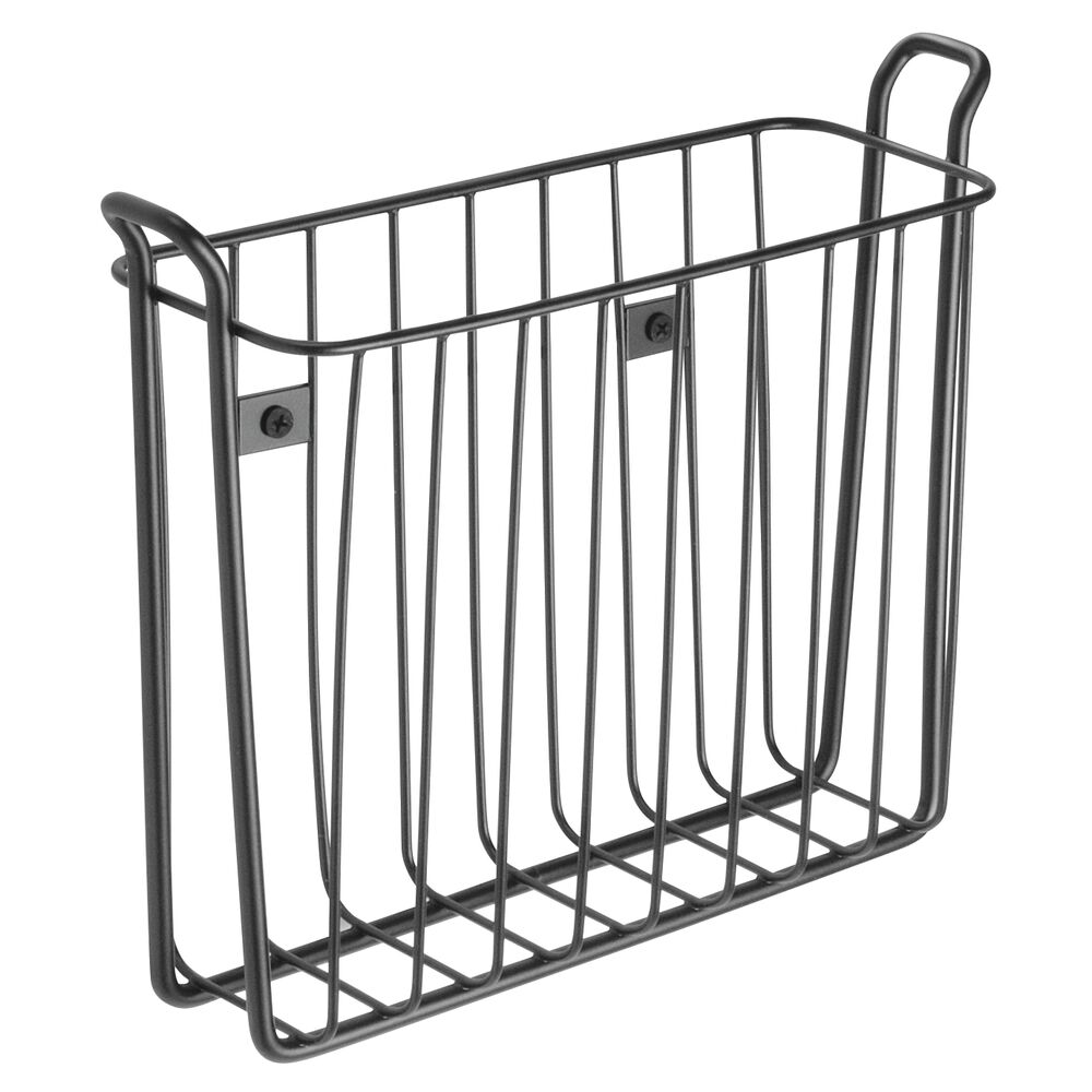 mDesign-Metal-Wall-Mount-Magazine-Book-Holder-Compact-Rack thumbnail 28