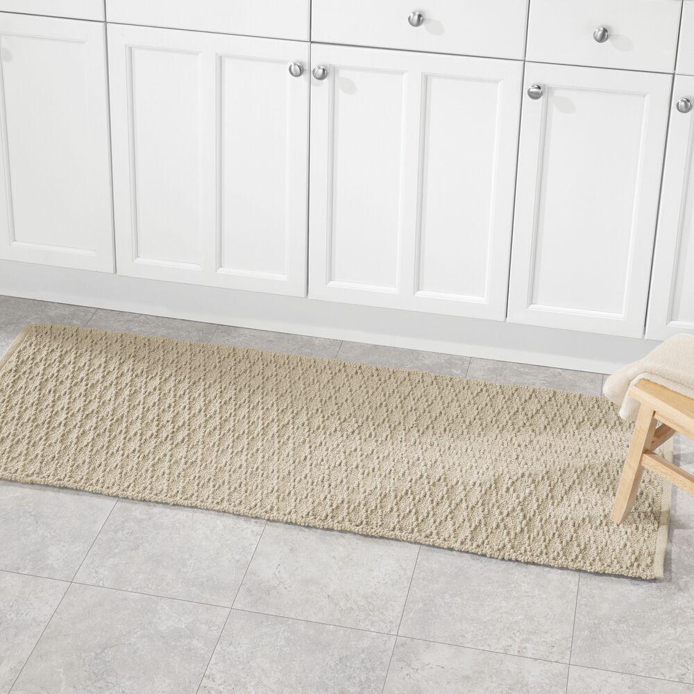 mDesign Bathroom Cotton Rectangular Rug, Long Runner, 60 ...