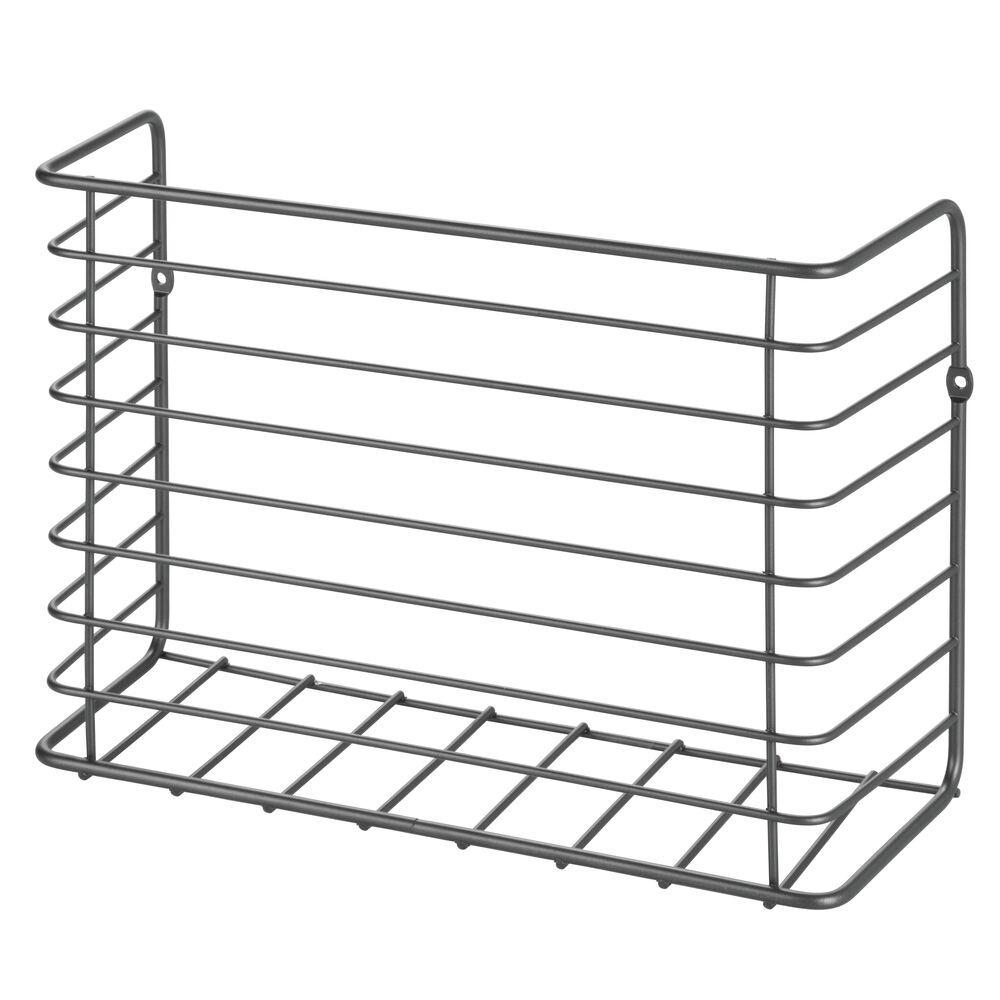 mDesign-Metal-Wall-Mount-Magazine-Holder-Storage-Organizer-Rack thumbnail 36