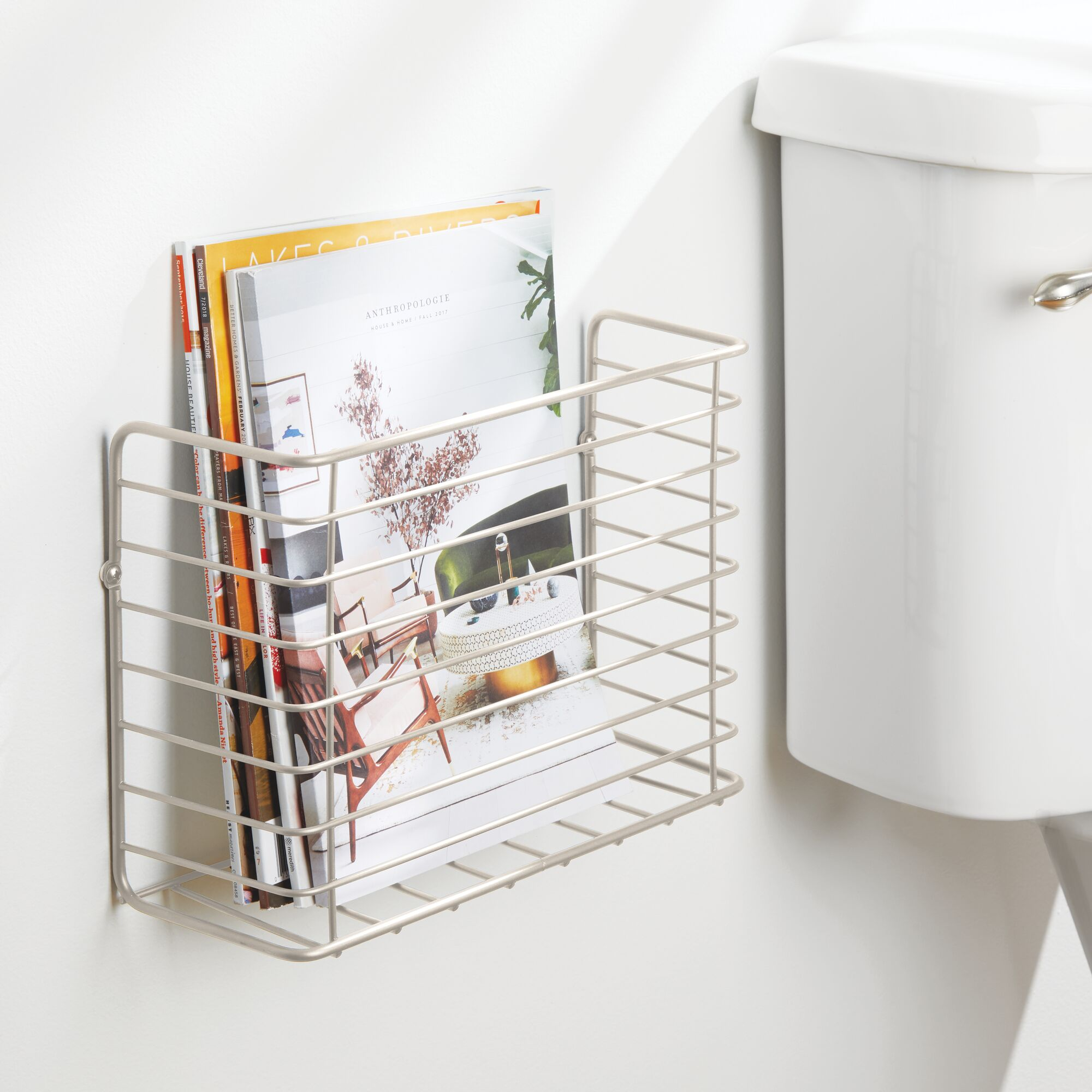 mDesign-Metal-Wall-Mount-Magazine-Holder-Storage-Organizer-Rack thumbnail 53