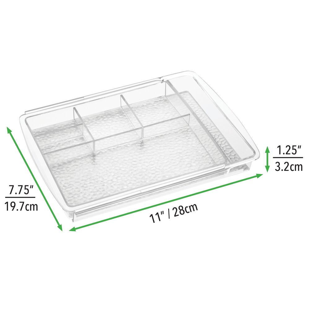 mDesign-Expandable-Makeup-Organizer-Tray-for-Bathroom-Drawers thumbnail 9